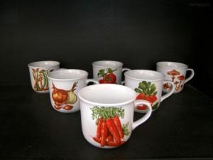 Porcelánový hrnek vařák zelenina 0,65l 6ks