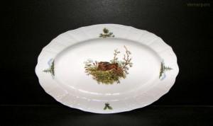 Porcelánový talíř oválný, Bernadotte lovecké motivy 36 cm