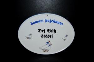 Požehnání, porcelán husy, 20cm