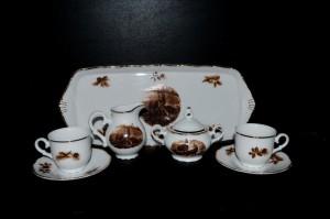Přátelská souprava kávová, myslivecký porcelán Ofelie 788