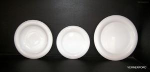 Sada porcelánových talířů Catrin, 18-dílná, bílá