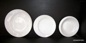 Sada porcelánových talířů Future 18-dílná, bílá