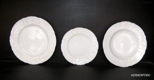 Sada talířů Bernadotte, bílá 18-dílná