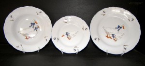 Sada talířů Husa, 18 dílná, tvar Verona