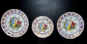 Sada talířů Ofelie listr tři grácie 18d.