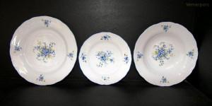 Sada talířů pomněnky, porcelán Verona 18 dílný.