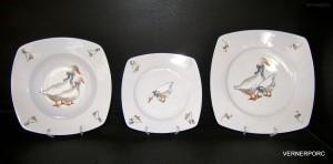 Sada talířů Tetra 313 dekor Husa 18-dílná