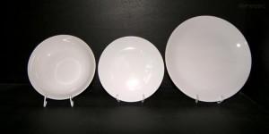 Sada talířů Viola 18d. bílý porcelán