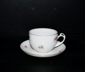 Šálek s podšálkem Clea čaj, dekor házenka 6 ks