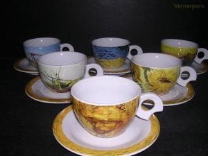 Šálek s podšálkem Dova Van Gogh 160 mm. 6ks