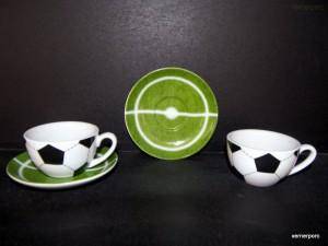 Šálek s podšálkem Fotbal káva 0,15l. 2ks.