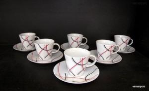 Šálek s podšálkem na kávu, Tom 5500 6ks