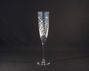 Sklenice broušená křišťál šampaň flétna 185 ml. 10259/11008/185 6ks.