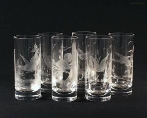 Sklenice long křišťál ptáci 2001/00001/350P 6ks
