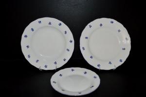 Talířová souprava modrá házenka Verona 673 18 dílná