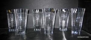 Tančící sklenice křišťálové long 0,3l. 6 ks.