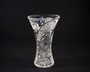 Váza křišťálová broušená 80029/35003/255  25,5cm. páv