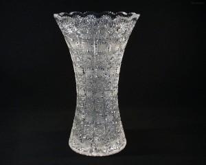 Váza křišťálová broušená 80029/57001/355 35,5 cm.