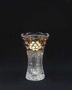 Váza křišťálová broušená 80029/57011/205 20,5 cm.