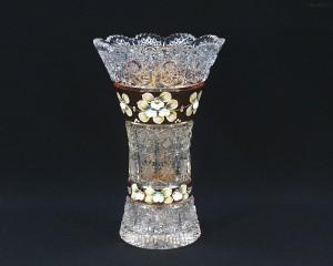 Váza křišťálová broušená 80029/57111/255  25,5 cm.