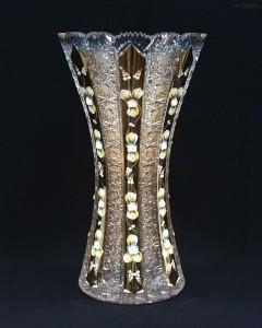 Váza křišťálová broušená 80029/57113/410 41cm.