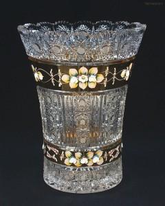 Váza křišťálová broušená 8006/57011/305  30,5cm.