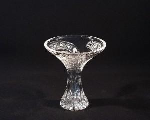 Váza křišťálová broušená Tanečnice 80080/35003/155 15,5cm, dekor páv
