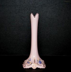 Váza Lenka štíhlá 247/P růžová dekor pomněnky