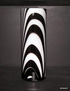 Váza válec ZEBRA 35cm.