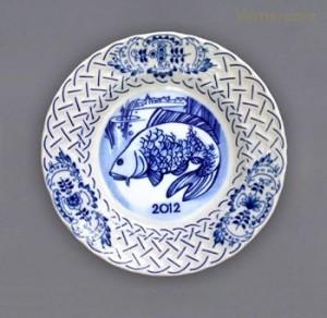 Závěsný výroční talíř reliéfní 2012