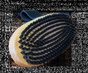 Závodní oválný kartáč s štětinami z koňských žíní 12046