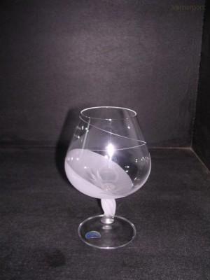 Sklenice Fleur mat 400 ml. brandy 6 ks Crystalex