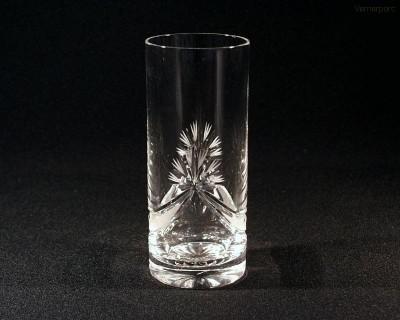 Sklenice broušená křišťálová long drink mašle 350 ml. 6 ks Tom Crystal Bohemia