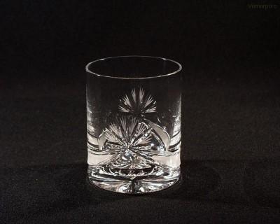 Sklenice křišťálová broušená whisky mašle 320 ml. 6 ks Tom Crystal Bohemia