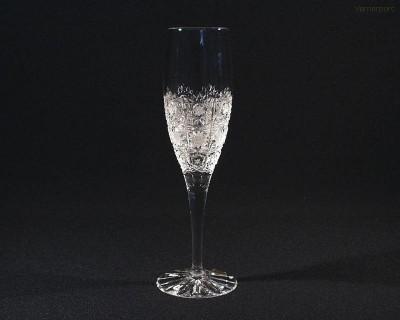 Sklenice křišťál brus Adela flétna 12170/57001/160  160ml. 6ks. Tom Crystal Bohemia