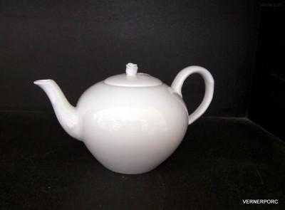 Konvice na čaj, s růží, 0,95l, bílý porcelán Český porcelán