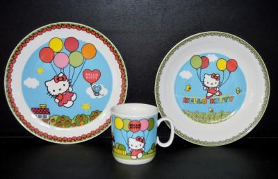 """Dětská souprava, dekor """"Hello Kitty"""" 3 dílná Thun"""