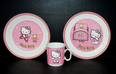 """Dětská souprava, dekor """"Hello Kitty"""" růžová 3 dílná Thun"""