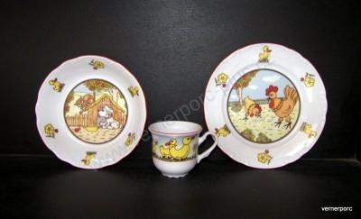 Dětský porcelán Constance, domácí zvířátka Thun