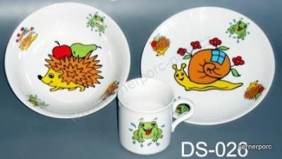 Dětský porcelán Viola 026, 3dílná Moritz Zdekauer