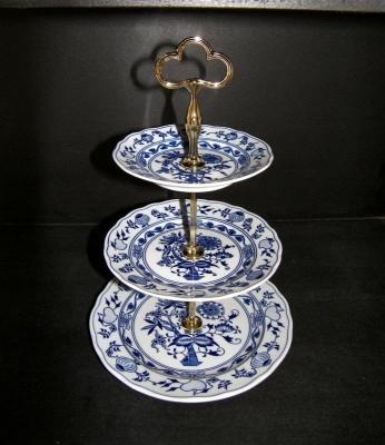 Etažér 3-patrový Český porcelán