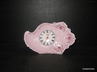 Hodiny Lenka 563 z růžového porcelánu Epiag