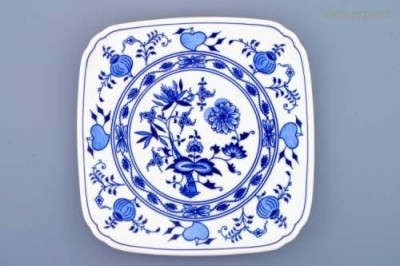 Hranatý talíř 21 cm Český porcelán