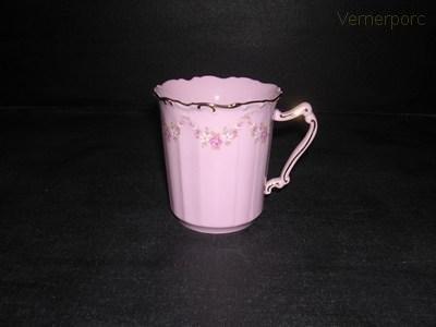 Hrnek Amis 158 0,25 l., růžový porcelán Leander Loučky