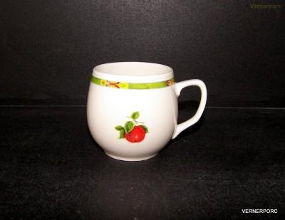Hrnek Baňák 0,3l, dekor ovoce Český porcelán
