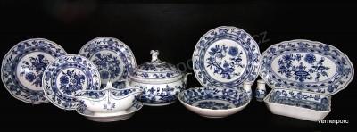 Jídelní souprava - cibulový porcelán, 27 dílů Český porcelán