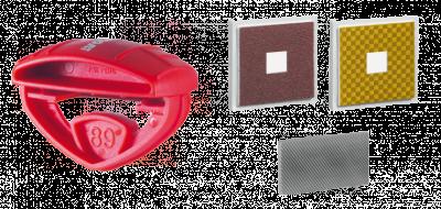 Kapesní brousek QUICK SHARP BASIC EXTRA  88°a 89° 11005 s vyměnitelným pilníkem, diamantem a trizactem.