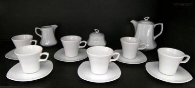 Kávová souprava Gama, bílý porcelán, 15d. Moritz Zdekauer