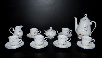 Kávová souprava, porcelán husy Jeremy
