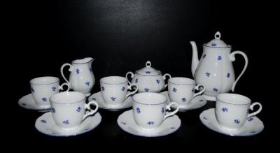 Kávová souprava Verona 673 15 dílná, porcelán modrá házenka Jeremy